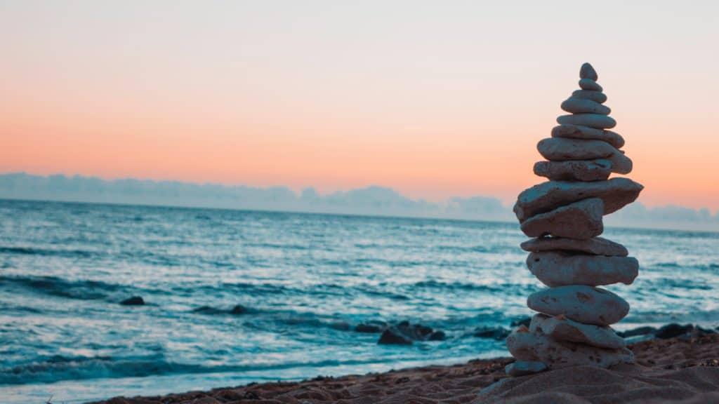 pile of stones, carefully balanced