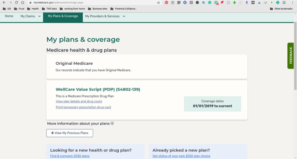 illustration of medicare.gov website