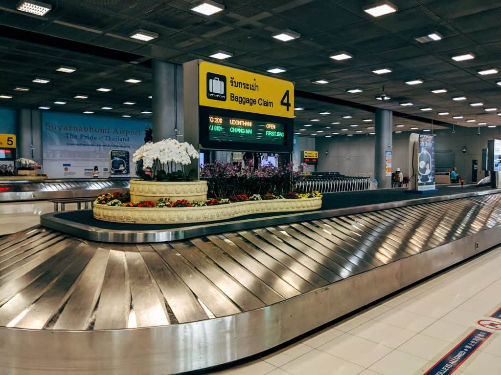 baggage claim at an airport